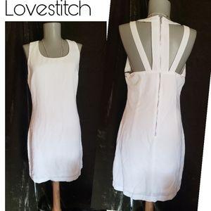 Lovestitch white cut out sheath dress.  Sz Med